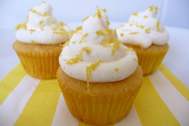 Lemondrop Cupcakes with Creamy Lemon Frosting glutenfree