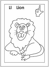 Asl For L Coloring Page