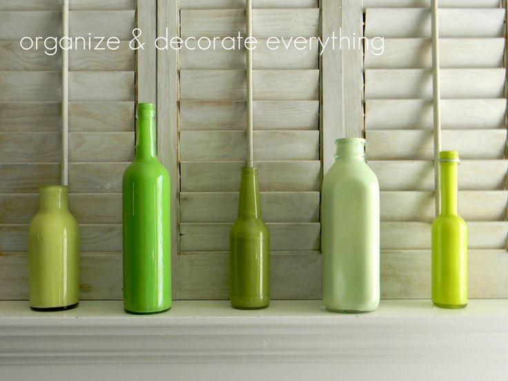 Love the colorBottle Ideas, Colors, Acrylics Painting, Painted Bottles, Painting Bottle Very, Bottle Teal, Crafts, Crafty Ideas, Painting Wine Bottle