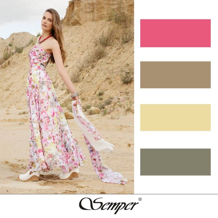 #colourpallette #maxidress #semper #springfashion #floraldress