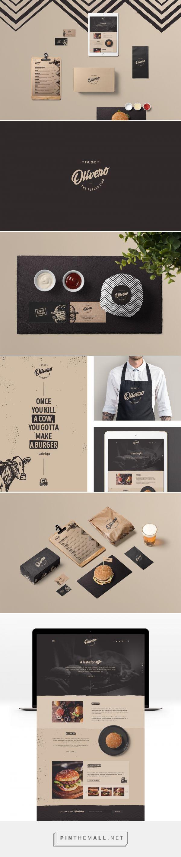 Olivero Burger Club Restaurant Branding and Menu Design by Anas A'abed | Fivestar Branding Agency – Design and Branding Agency & Curated Inspiration Gallery