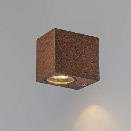 Wandlamp Baleno I roestbruin - Wandlampen - buiten - Buitenverlichting - Lampenlicht.be
