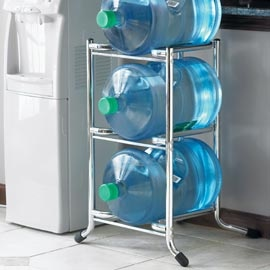 A more stylish and efficient way to store those large water bottles.