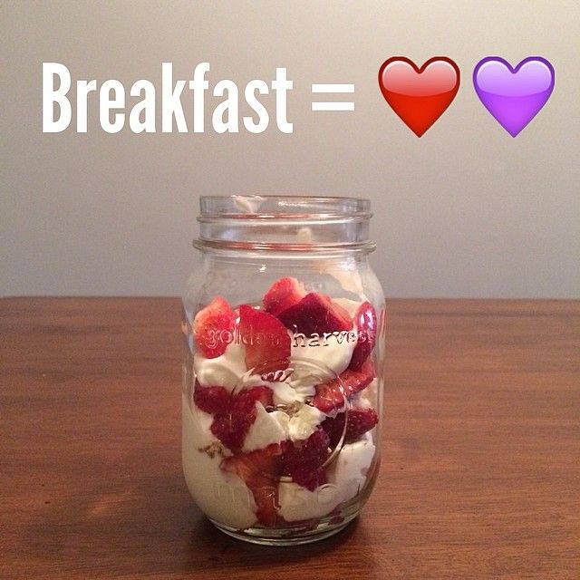 Non-fat Greek Yogurt with vanilla extract and stevia layered with strawberries