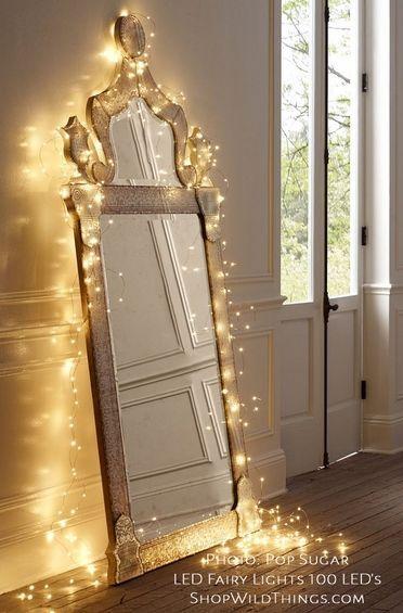 DazzLED Fairy String   100 Warm White LEDs   32u0027 Silver Wire   Plug In