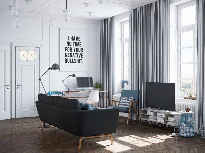 Linhas retas, formas simples, cores neutras, espaços claros e amplos: o design escandinavo mistura sofisticação e funcionalidade.
