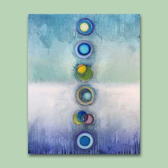 Ursprüngliche abstrakte Kunst Malerei  24 x 30 von AbstractBrush