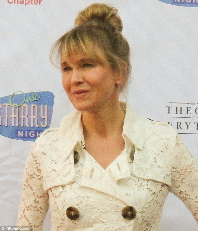 A sight for sore eyes: Renee Zellwegerappeared to be back to her youthful self at the One Starry Night: From Broadway to Hollywood gala on Monday in Los Angeles benefiting the ALS Association Golden West Chapter