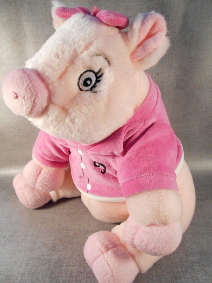 priscilla the pink pig 12 u0026quot  macy u0026 39 s stuffed animal toy plush pink hairbow  u0026 sweater  pre