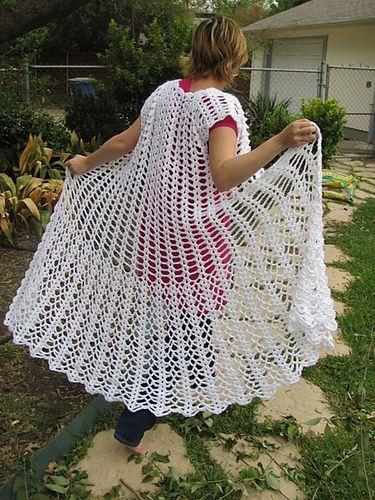 Lacy Crochet Duster: free pattern