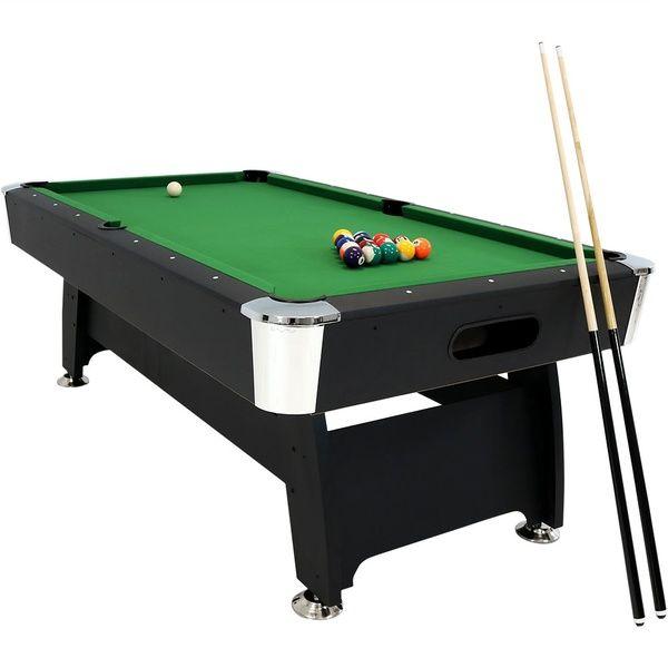 Sunnydaze 7 Foot Pool Table Durable Billiard Game Set