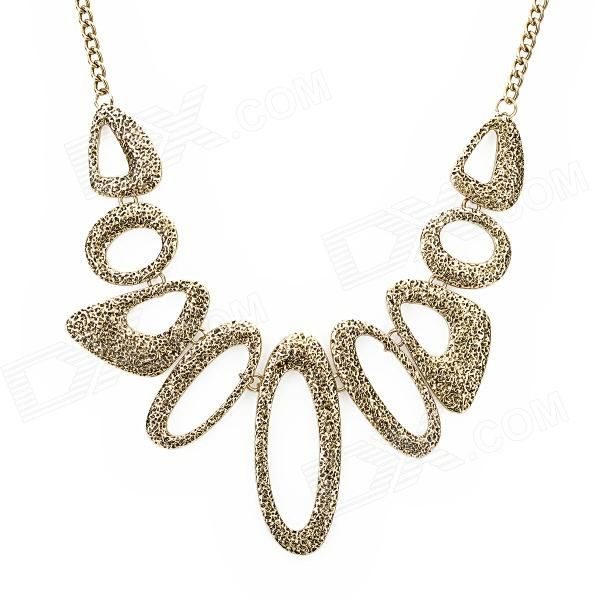 Color: Golden; Quantity: 1 Piece; Chain Material: Zinc alloy; Pendant Material: Zinc alloy; Gender: Women; Suitable for: Adults; Chain Length: 45 cm; Features: Fashionable and unique design, great for daily wear; Packing List: 1 x Necklace; http://j.mp/1ljFo3K