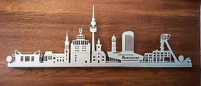 Skyline Dortmund / Stadtsilhouette Dortmund Edelstahl