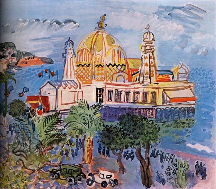 The casino of Nice, 1929-Raoul Dufy - by style - Naïve Art (Primitivism)