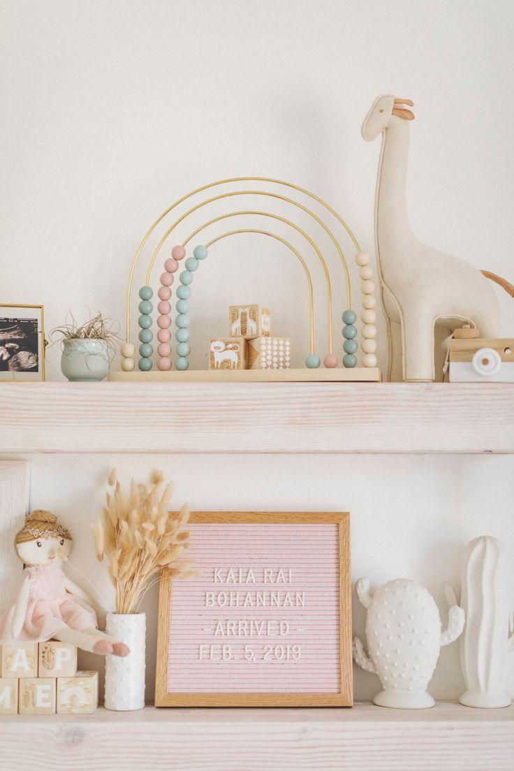 Boho Cactus inspiré de la chambre de bébé rose et blanche – Anthropologie x West Elm …   – // NURSURIES