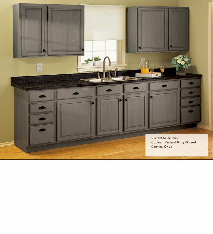 Rustoleum Cabinet & Countertop Transformations - Cabinets: Federal Gray Glazed, Counters: Onyx
