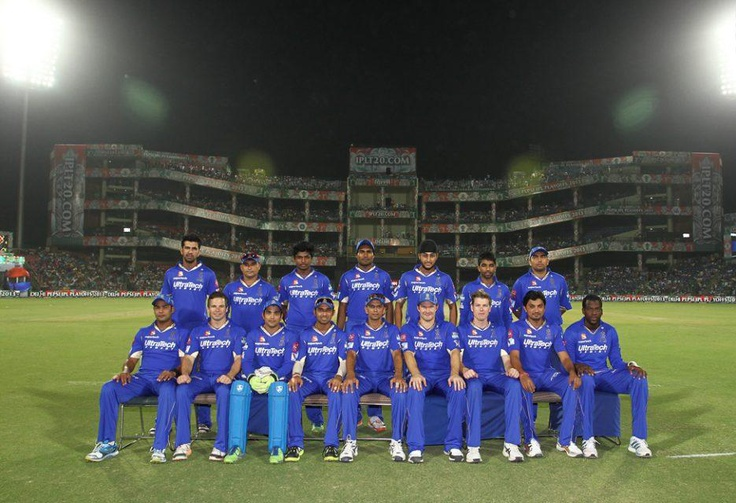 Rajasthan Royals during the eliminator match of the 2013 Pepsi Indian Premier League between The Rajasthan Royals and the Sunrisers Hyderabad held at the Feroz Shah Kotla Stadium, Delhi on the 22nd May 2013