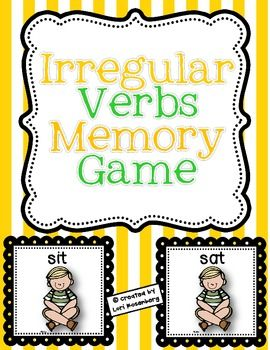 Here's a fun game for children to play to help them learn irregular verbs. It contains 27 irregular verb matches and a recording sheet.Enjoy!...