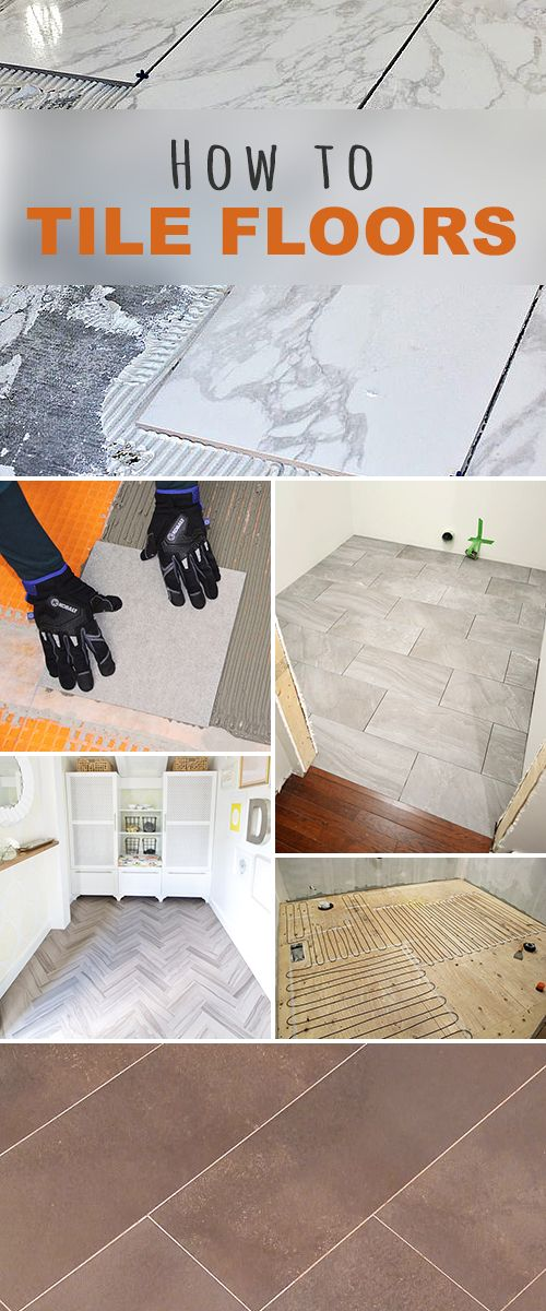 How to Tile Floors! • Learn how to lay tile, different techniques, how to install heated flooring, replace a bad tile and much more! • Lots of great tips and tutorials! The one thing I learned b4 finding this is to make sure your subfloor is screwed down!!! Or the tiles will lift off when the floor moves!