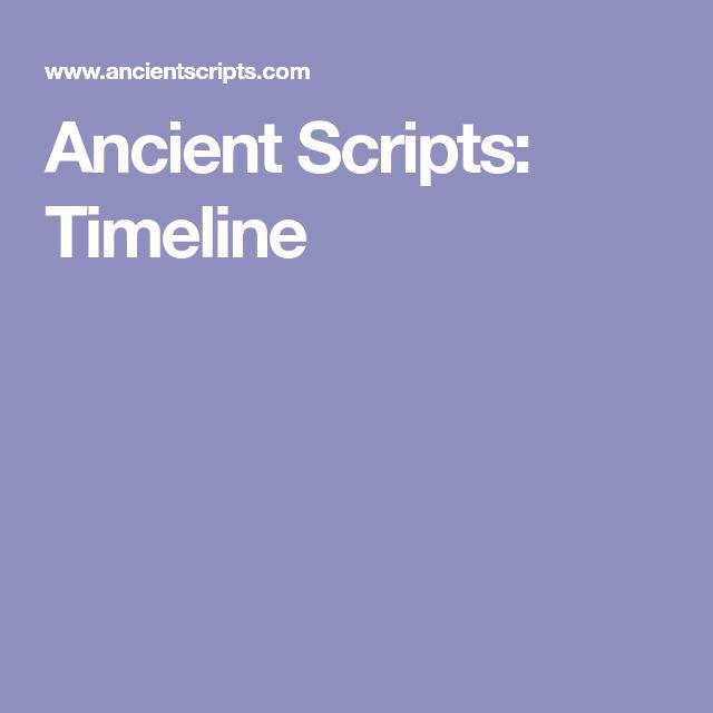 Ancient Scripts: Timeline