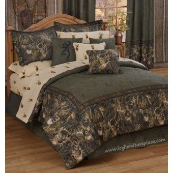 Browning Whitetails Comforter Set- Camouflage bedding- Cabin & Hunting Decor