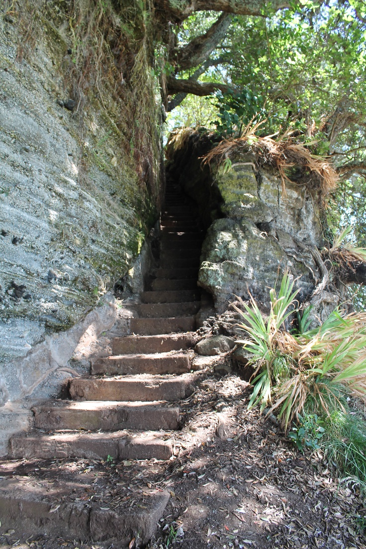 Historic staircase on North Head, Auckland, New Zealand.
