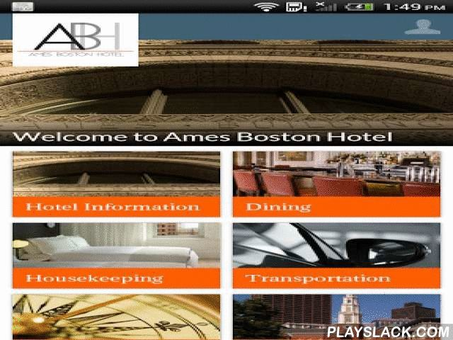 "Ames Boston Hotel  Android App - playslack.com , Located in Downtown Boston, Ames Boston Hotel is one of the country's premiere luxury boutique hotels. Redefining urban chic, it has earned numerous awards and mentions, including a AAA Four Diamond property rating and a Condé Nast Traveler ""Hot List"" selection. The hotel offers 114 guest rooms in total – with thirteen different types to choose from in total, including Corner Kings, Suites, Lofts and an Apartment. Rooms give visitors the…"