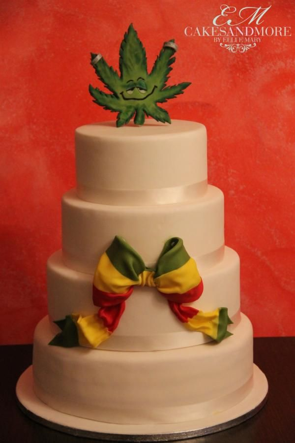 Reggae Wedding Cake Reggae Weddingcake Bow Jamaica