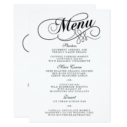 542 best Typography Wedding Invitation images on Pinterest - dinner party menu template