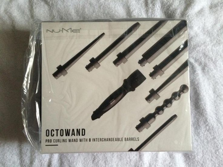 NEW Nume Hair Octowand Curling Wand 8 In 1 Barrels Black US plug only
