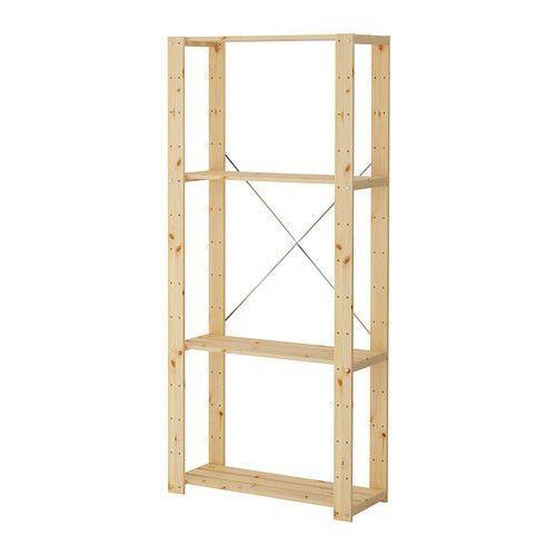 IKEA Shelf HEJNE 1 section, softwood - 78x50x171 cm