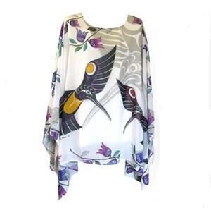 Sheer Chiffon Poncho - Hummingbird - gaia rising metaphysical