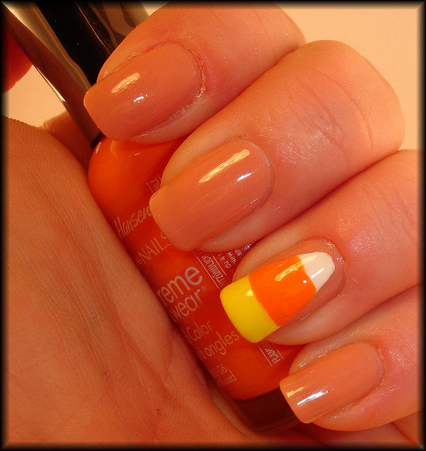 Best 25 candy corn nails ideas on pinterest easy halloween candy corn nail art google search prinsesfo Image collections