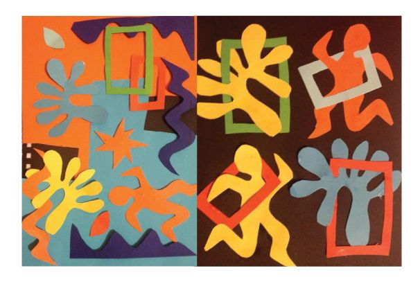 Matisse inspired cut outs