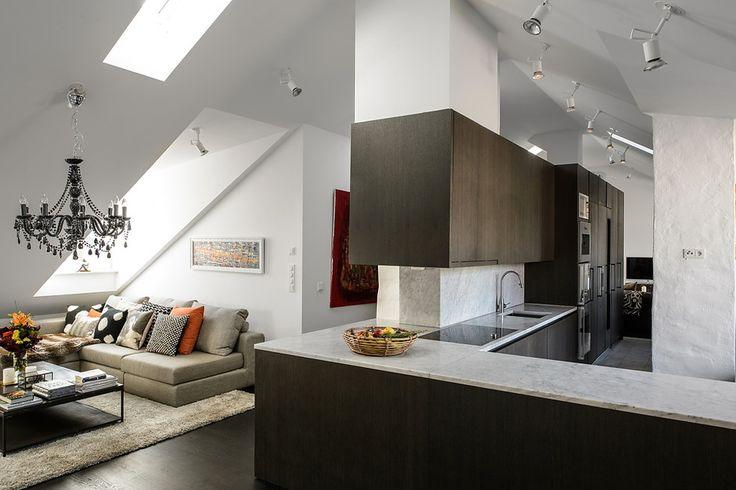 Квартира под крышей в Стокгольме – Красивые квартиры