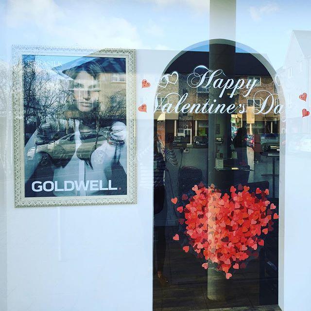 We're feeling the Valentine love ❤️ #Valentine #salon #hairsalon #miltonkeynes