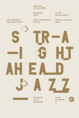 Typographic poster by Bogdan Ceausescu