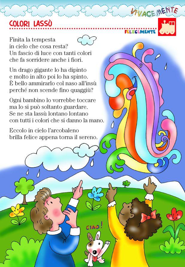 VIVACEMENTE con il cuore e con la mente: Filastrocca sui colori e l'arcobaleno