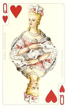 "Marie Antoinette Playing Card  From the ""Spanische Hofreitschule"" Piatnik Card Deck (1976)"