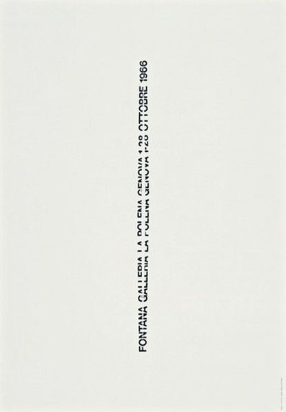 AG Fronzoni, black and white, graphic design, poster