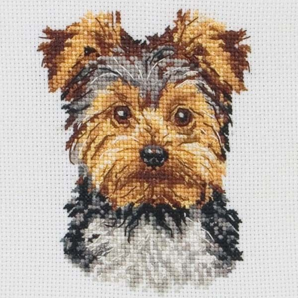 Yorkshire Terrier Cross Stitch Kit cakepins.com