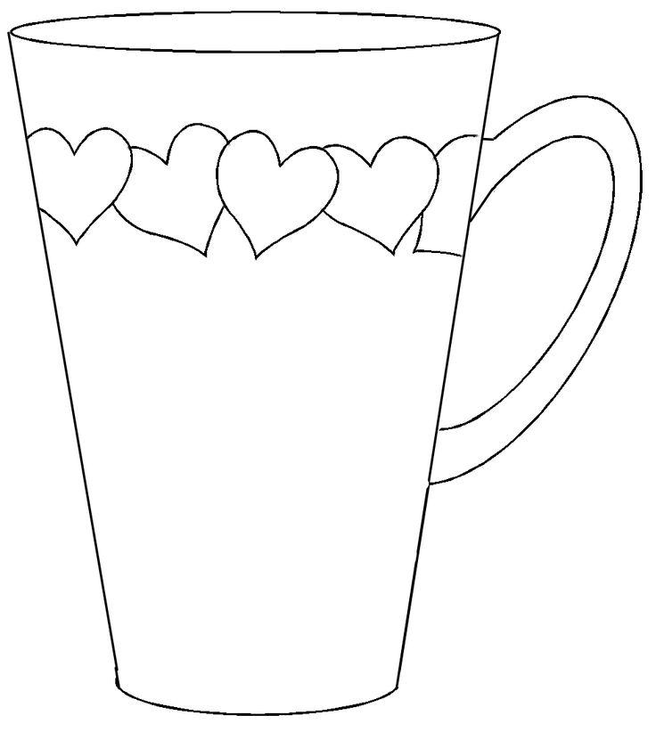 Corazones a la taza