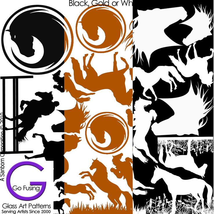 Designer Line Fused Glass Decal Hi Fire now in Gold as well as Black or White Enamel!