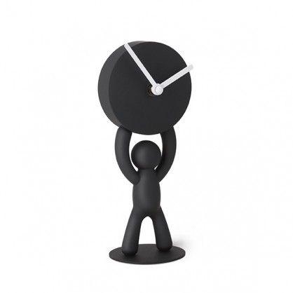 Kolejna propozycja z charakterystycznym ludzikiem w roli głównej. Tym razem Buddy zajął się odliczaniem czasu. Bezcyfrowy zegar firmy Umbra to klasyczne kolory zatopione w nowoczesnej formie. Buddy odnajdzie się zarówno w sypialni, biurze, jak i salonie.