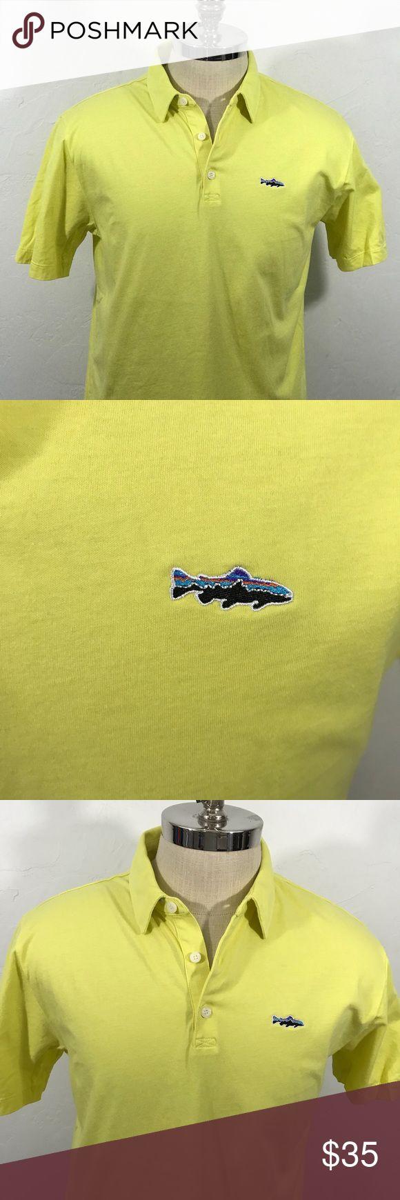 PATAGONIA Fitz Roy Polo Shirt Shark Logo Organic Polo