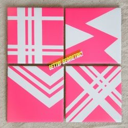 Coasters made out of basic tiles! Perfect for Summer Parties!  #craftgawker