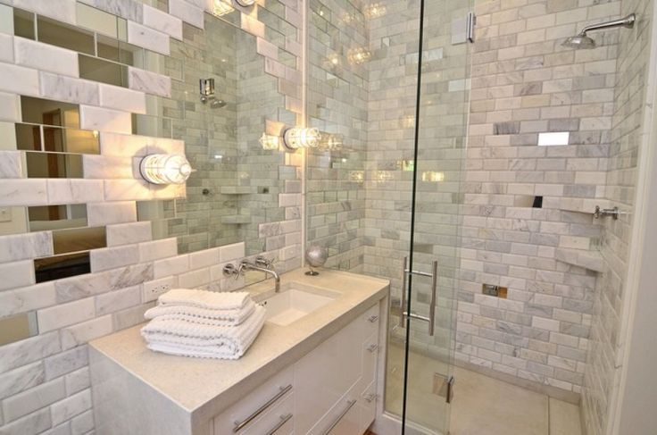 Image from http://pfgrenada.com/wp-content/uploads/2015/02/bathroom-killer-modern-white-bathroom-decoration-with-white-brick-tile-bathroom-wall-including-clear-glass-shower-door-and-rectangular-white-ceramic-undermount-bathroom-sinks-good-looking-bathroom-dec.jpg.