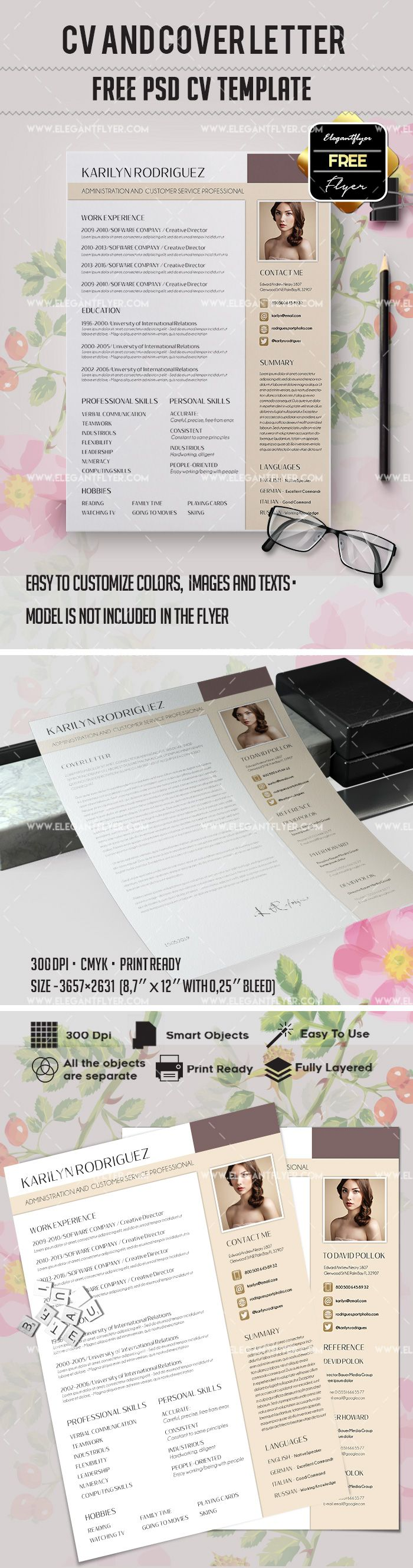 free printable cover letters for resumes%0A Free Work Resume Template  u     CV and Cover Letter