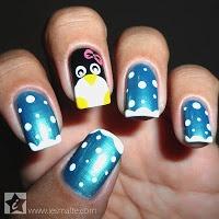 iEsmalte: Unha Decorada - Pinguim