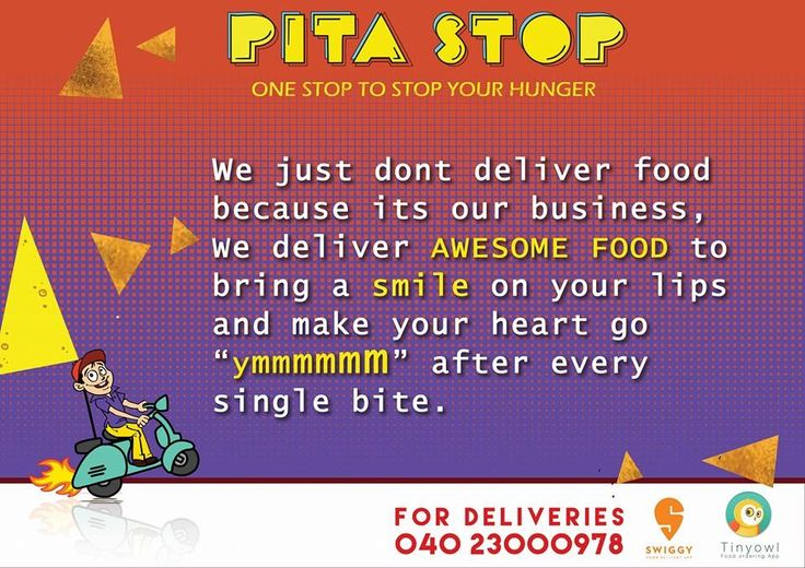 we just don't deliver food....we deliver more than that..!!!